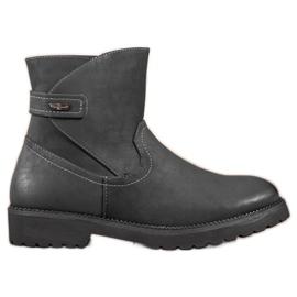 Sergio Leone Comfortable Black Ankle Boots