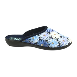 Slippers flip flops 3D Adanex 24192 navy blue