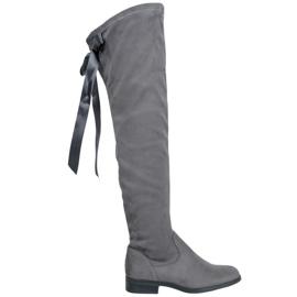 Seastar Stylish Thigh-High Boots grey