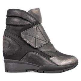 Sergio Leone Sneakers. Velcro grey