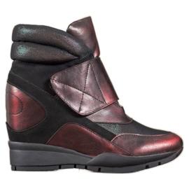 Sergio Leone Sneakers. Velcro red