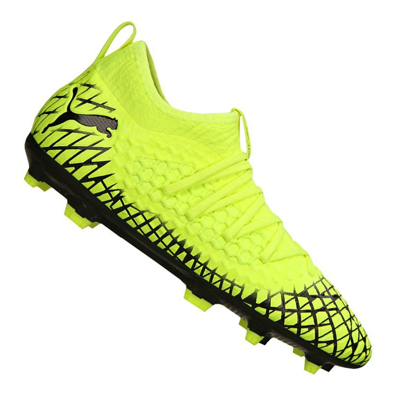 Puma Future 4.3 Netfit Fg / Ag Jr 105693-03 football boots yellow yellow