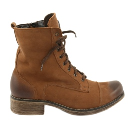 Worker boots with zipper Angello 2065 brown