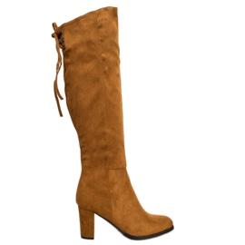 Suede Boots VINCEZA brown