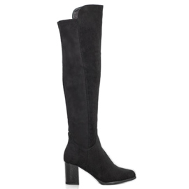 Filippo Suede Boots On A Bar black