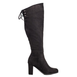 Suede Boots VINCEZA black