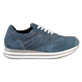 Kylie Sport Shoes With Eco Leather blue