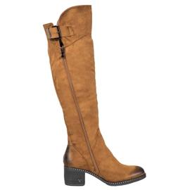 VINCEZA Camel Boots brown