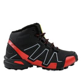 Black insulated trekking shoes BN8810