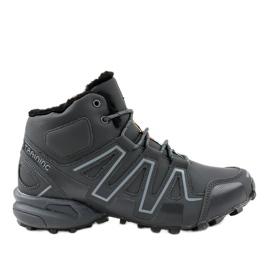 Gray insulated trekking shoes BN8810 grey