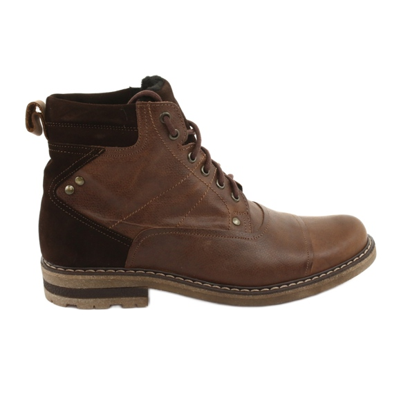 Ankle boots insulated Moskała BR-4 brown