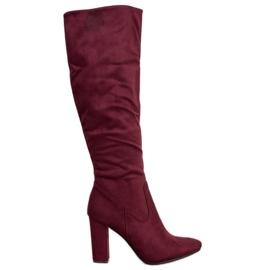 Elegant VINCEZA boots red