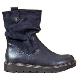 Ideal Shoes Platform Workers blue