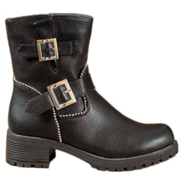 Lucky Shoes Workers With Clasps black