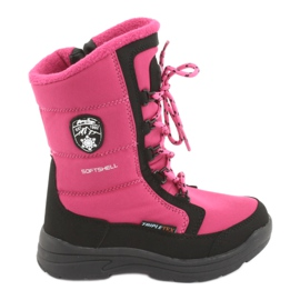 Snow boots with American club SN13 membrane pink / black