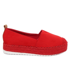 High soled espadrilles red BL247 Red II Species