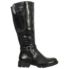 Filippo Black Boots With Elastics