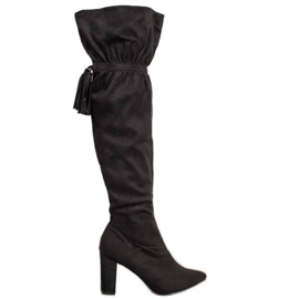 Seastar Black Boots With Fringes