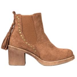 Small Swan Jodhpur boots with tassels brown