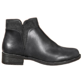 Small Swan Casual Black Ankle Boots