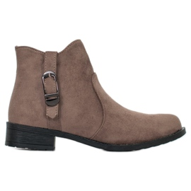 Small Swan Beige Suede Boots brown