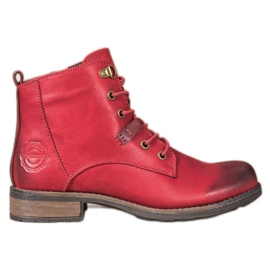 Goodin Elegant Eco Leather Trappers red
