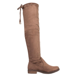 J. Star Suede Thigh-high boots brown