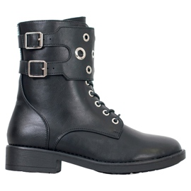 Filippo High Workers With Rhinestones black