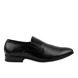 Black elegant loafers 6-317