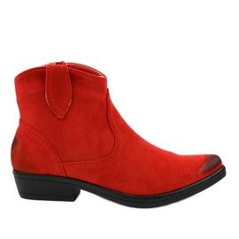 Red flat women's K860 cowboy boots