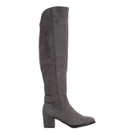 Goodin Warm Boots Over the Knee grey