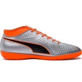 M Puma One 4 Syn It 104750 01 football boots silver orange, gray / silver