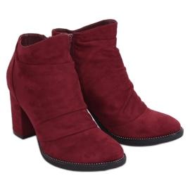 FA177 Wine burgundy high heels red