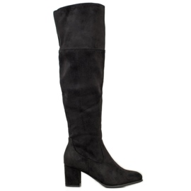 Clowse High Suede Boots black