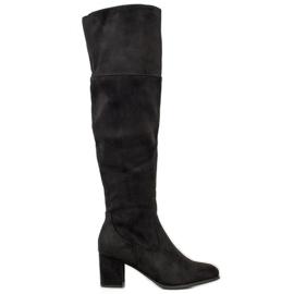 Clowse High Suede Boots black