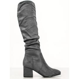 Seastar Gray Knee High Boots grey