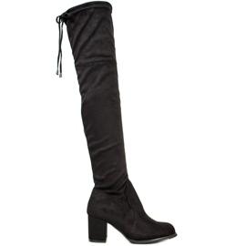 J. Star Slip-on boots on a post black