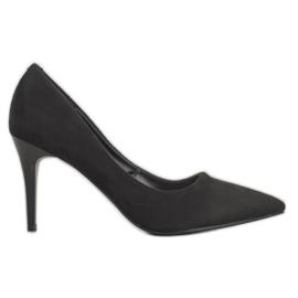 Kylie Classic Suede Heels black
