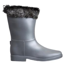 SHELOVET Wellingtons With Fur grey