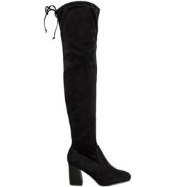 Filippo Elegant Boots Over the Knee black