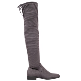 SHELOVET Gray Boots Over the Knee grey