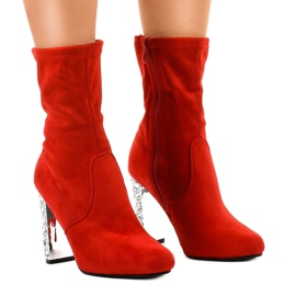 Red suede boots on the BM178 post