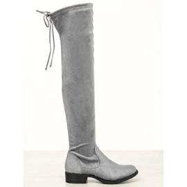 Seastar Casual Thigh-high boots grey