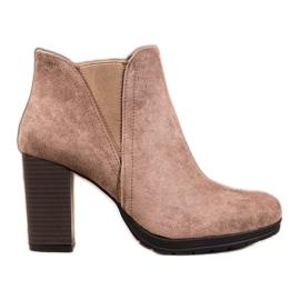 SHELOVET Slip-on Ankle Boots brown