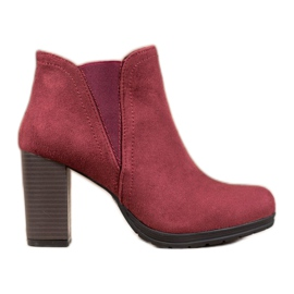 SHELOVET Slip-on Ankle Boots red