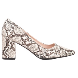 Seastar Snake Print pumps white