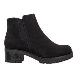J. Star Suede Boots On The Platform black