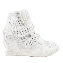 White wedge sneakers KLS-112-3