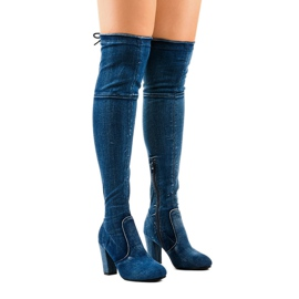 Classic denim boots HX15135-3B blue