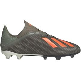 Adidas X 19.2 Fg M EF8364 football shoes grey green